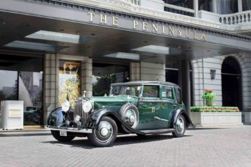 Rolls Royce outside The Peninsula Hong Kong