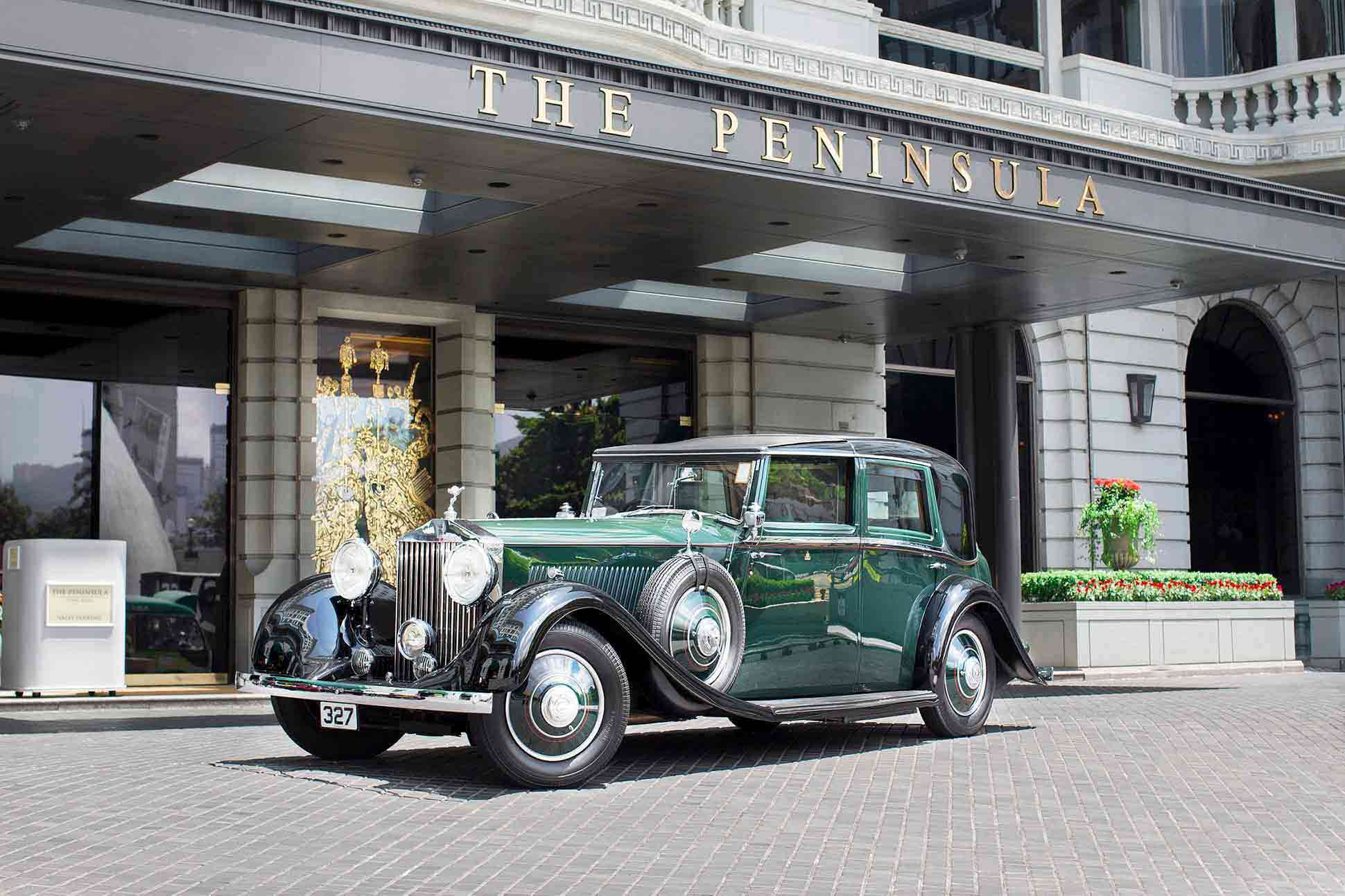 Rolls Royce outside The Peninsula Hong Kong