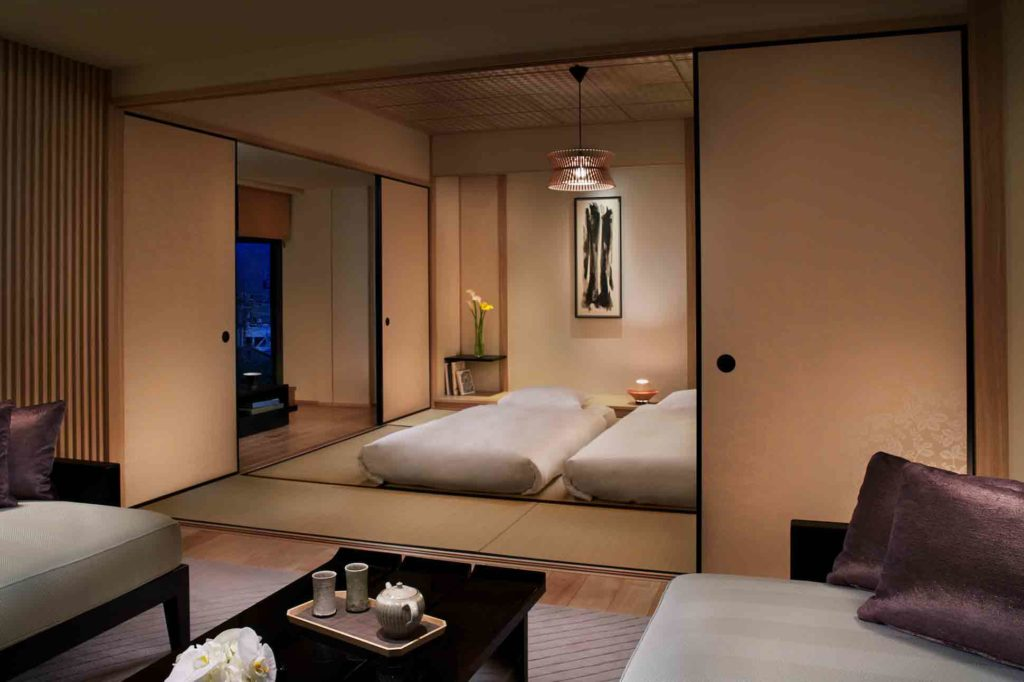 Japanese bedroom at The Ritz-Carlton Kyoto