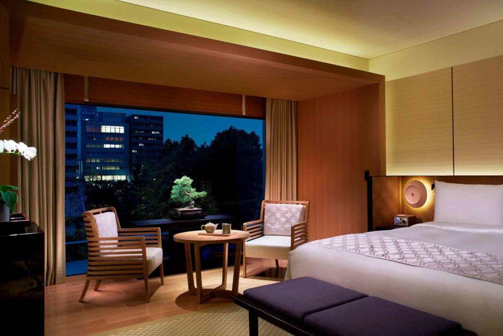 bedroom at The Ritz-Carlton Kyoto