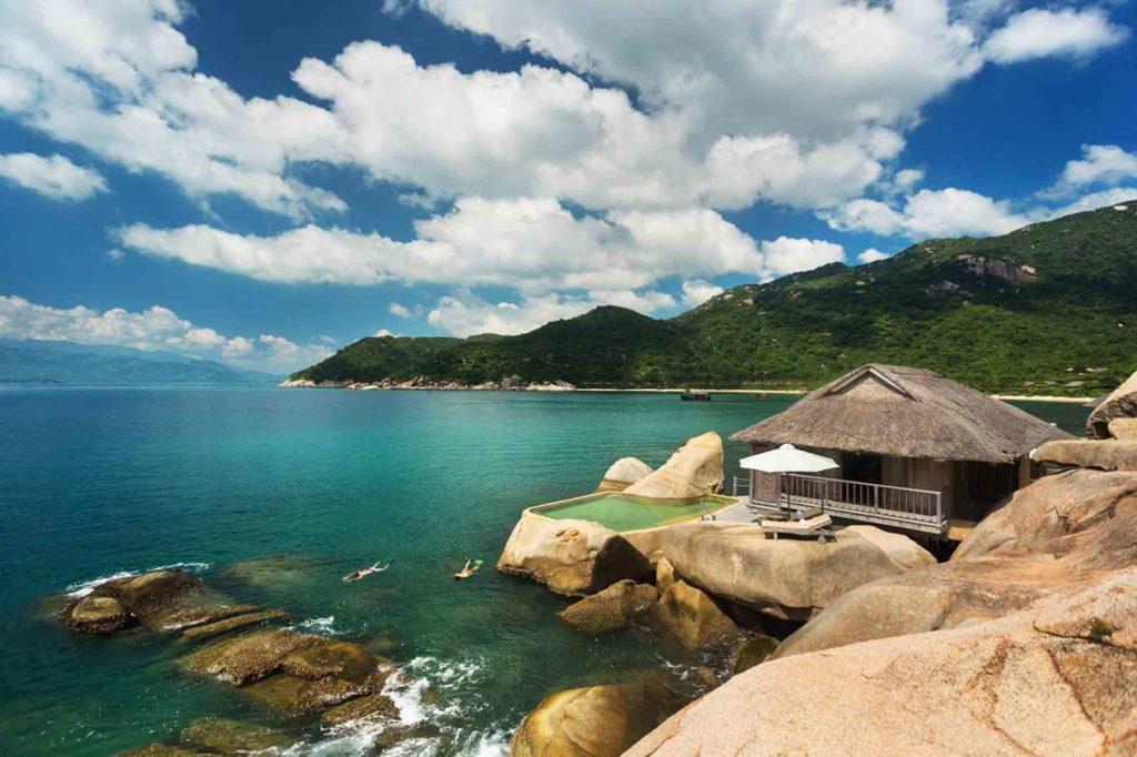 Swim at Six Senses Ninh Van Bay, Vietnam
