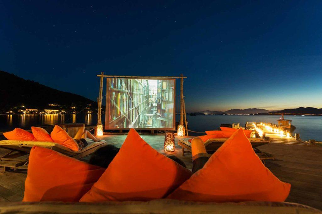 Cinema at Six Senses Ninh Van Bay, Vietnam