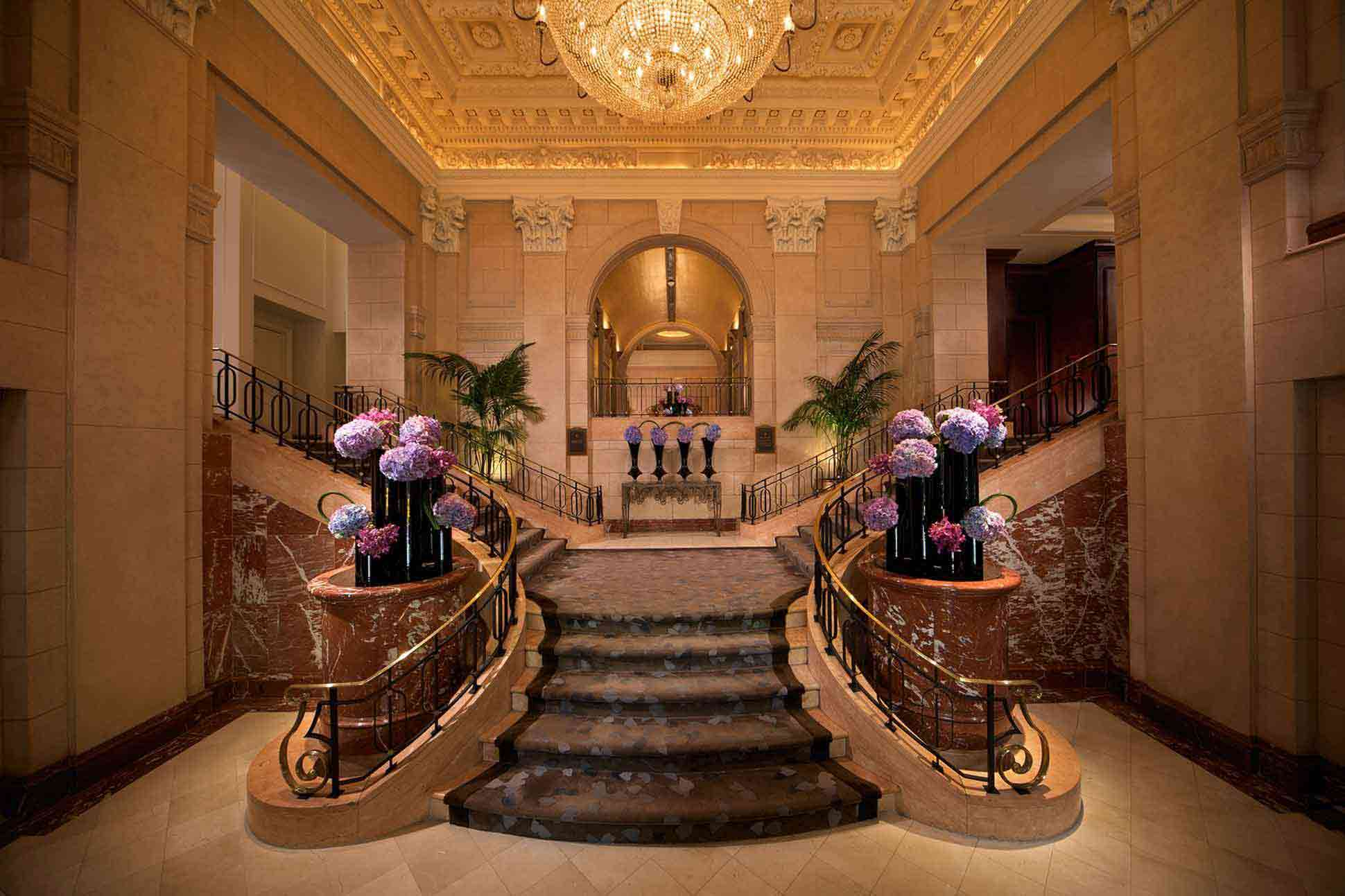 Entry stairwell The Peninsula New York