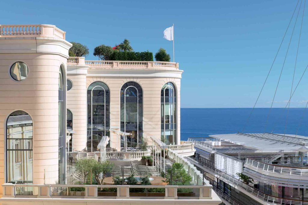 The Thermes Marins in Monaco overlooking the Mediterranean