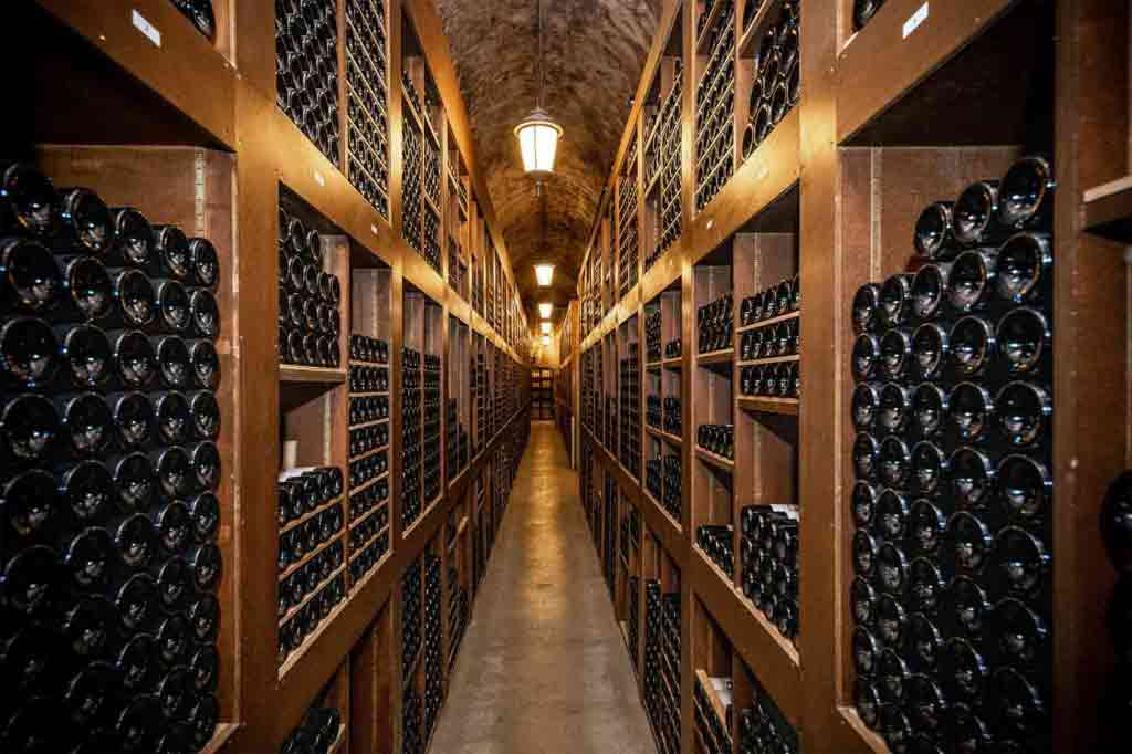 View of a wine cellar in Monaco