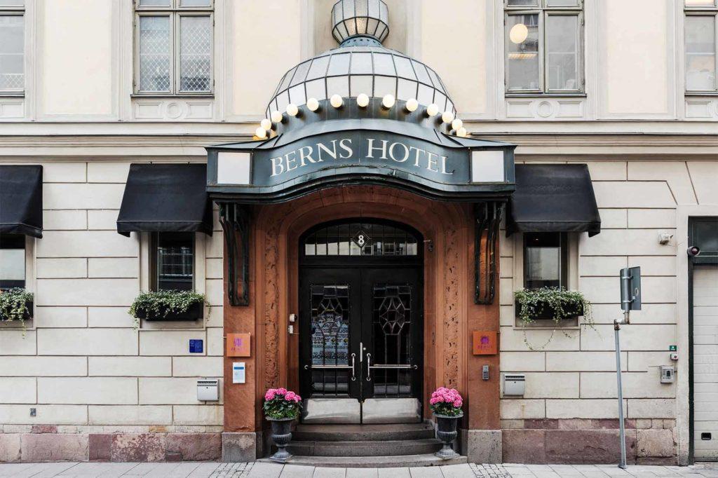 The entrance to Berns, Stockholm, Sweden
