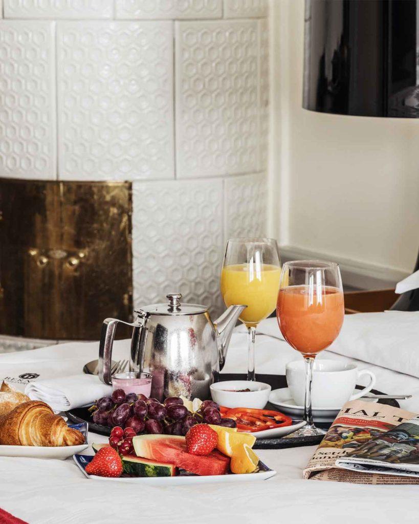 Breakfast in bed at Berns, Stockholm, Sweden