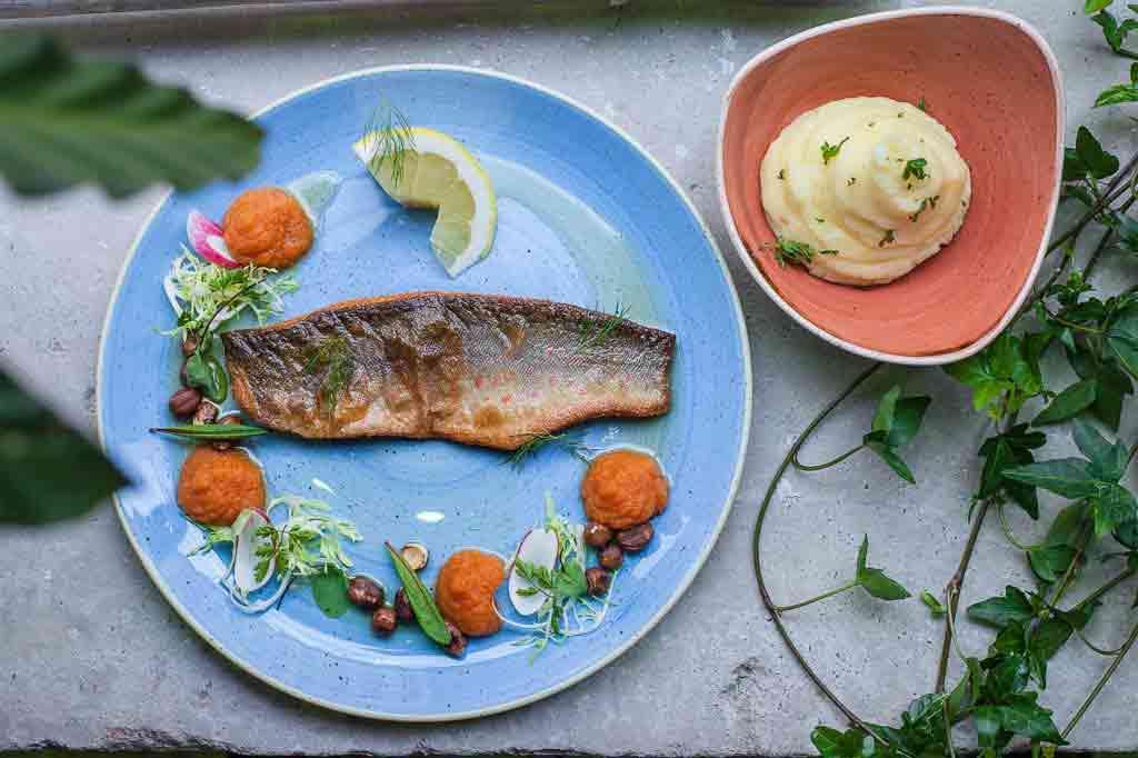 A meal at Hellsten Glashus, Stockholm, Sweden