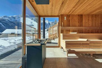 Sauna at Hotel Sassongher in Alta Badia, Italy