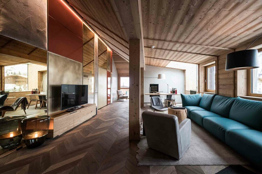 Penthouse Suite at the Rosa Alpina, Alta Badia, Italy