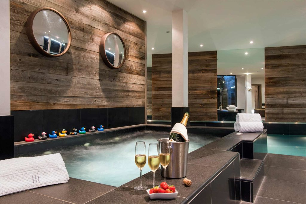 Indoor whirlpool at Virgin Limited Edition, The Lodge, Verbier, Switzerland