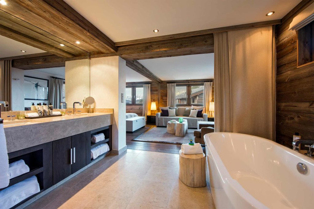 Master bedroom at Virgin Limited Edition, The Lodge, Verbier, Switzerland