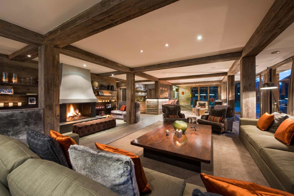 Living room at Virgin Limited Edition, The Lodge, Verbier, Switzerland