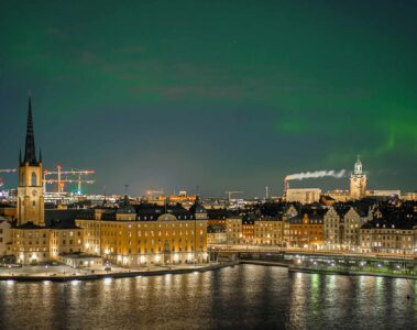 View over Stockholm, Sweden, at night