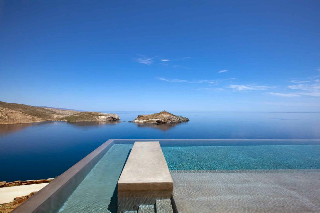 Infinity pool at Villa part of the Five Star Greece collection