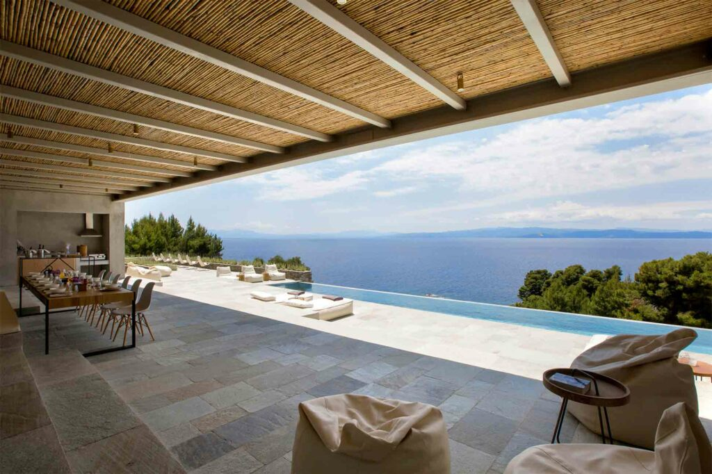 View over the sea from Villa part of the Five Star Greece collection