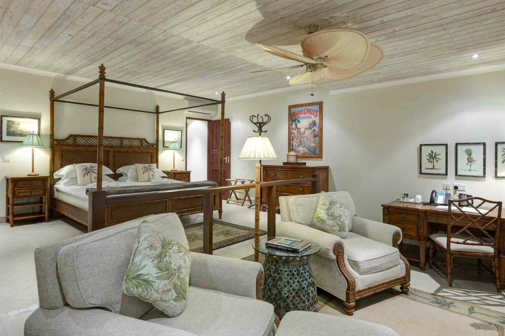 Bedroom at Bequia Beach Hotel, Belmont, Bequia, Saint Vincent and the Grenadines