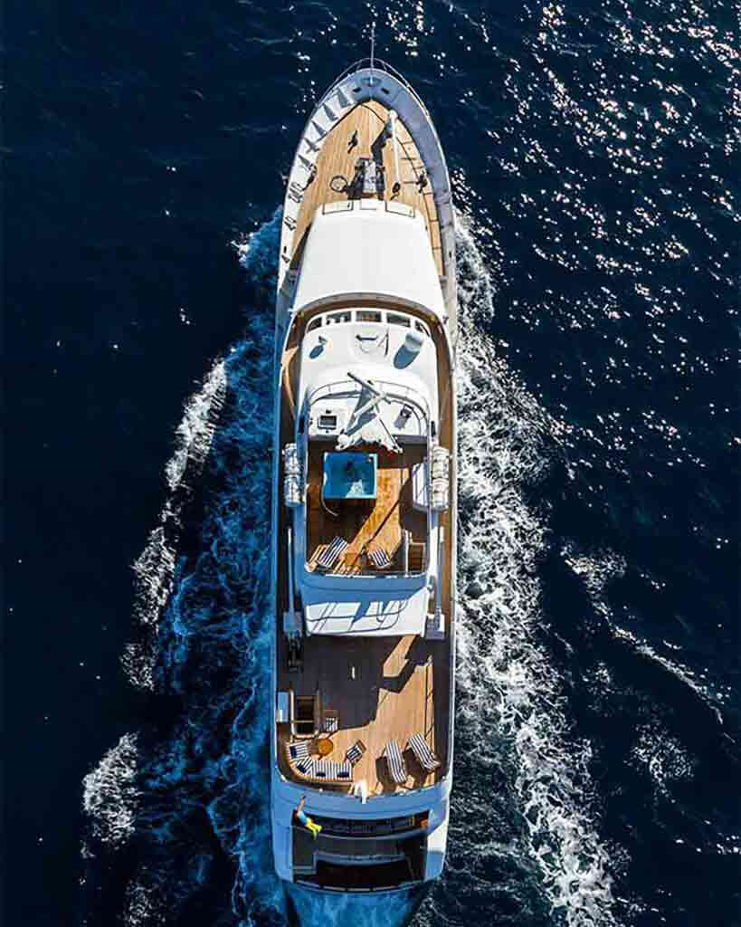 Aerial view of yacht part of Bequia Beach Hotel, Belmont, Bequia, Saint Vincent and the Grenadines