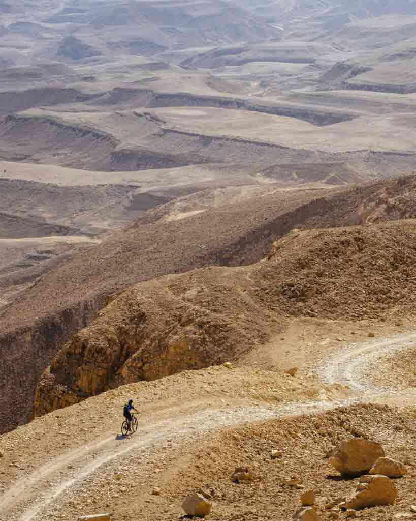 Biking in the Negev desert outside Six Senses Shararut, Six Senses Hotels, Resorts and Spas