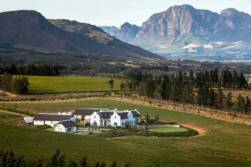 Exterior view of Brookdale Estate, Paarl, South Africa