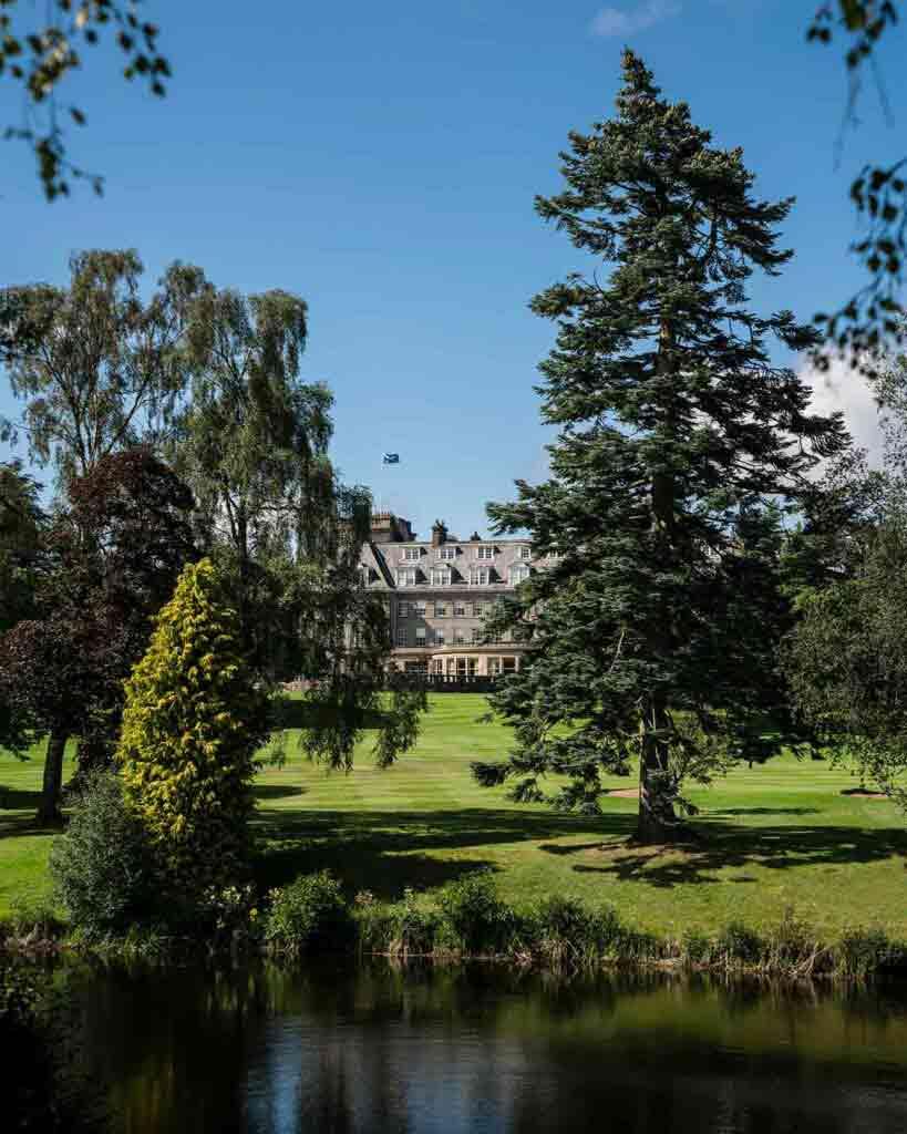 Natural landscape surrounding Gleneagles, Auchterarder, Scotland