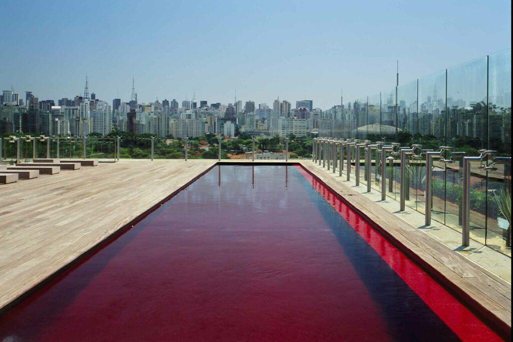 Hotel Unique Sao Paulo red pool