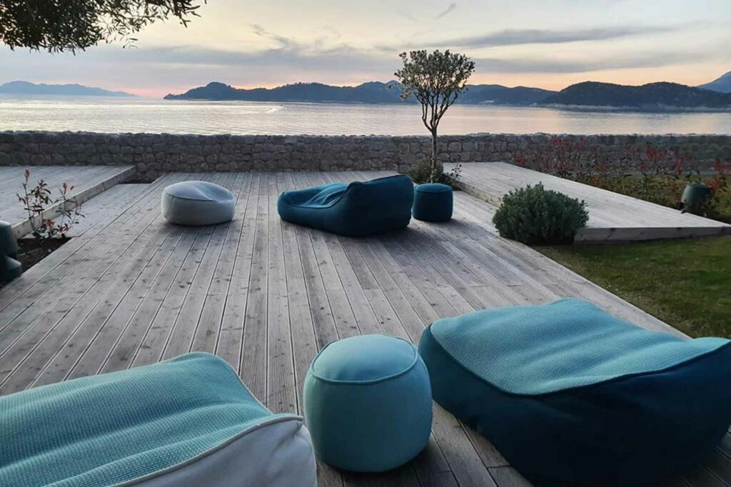 Lopud 1483 private island Croatia terrace view