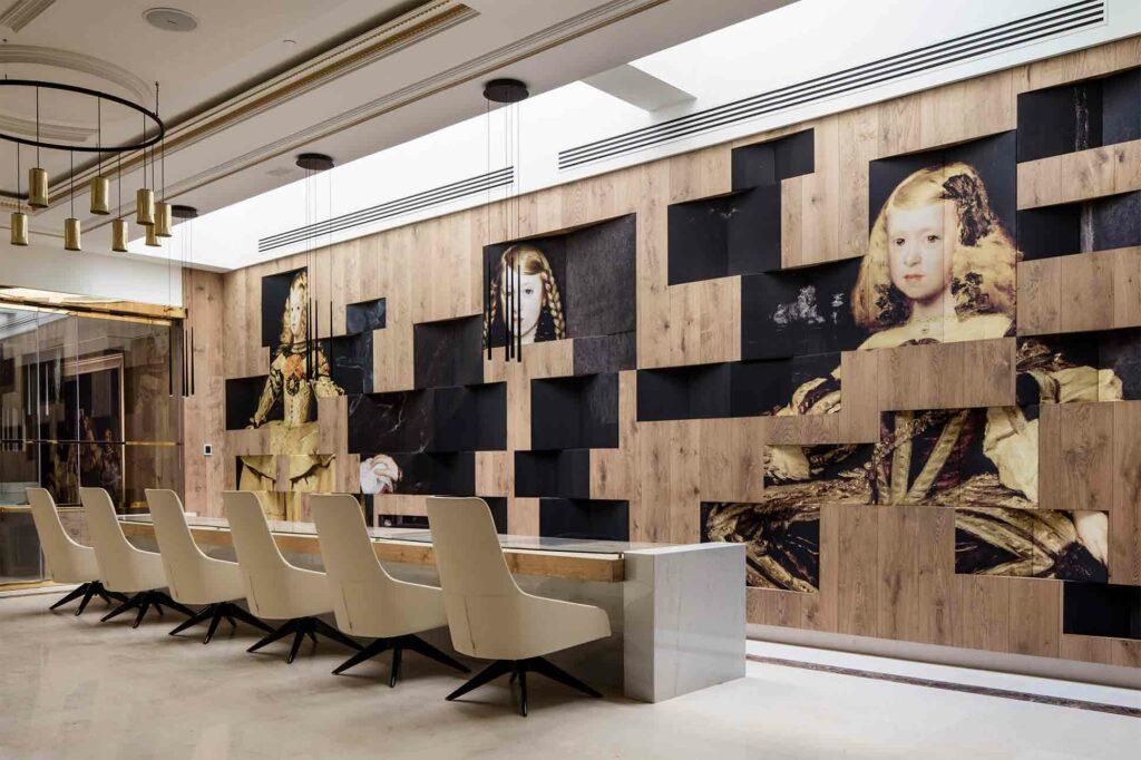 Reception area at Palacio de los Duques Gran Melia, Madrid, Spain