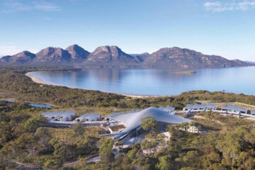 Saffire Freycinet birds eye view