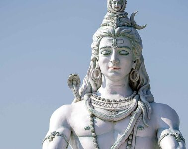 Statue of Hindu deity Shiva in Rishikesh, India