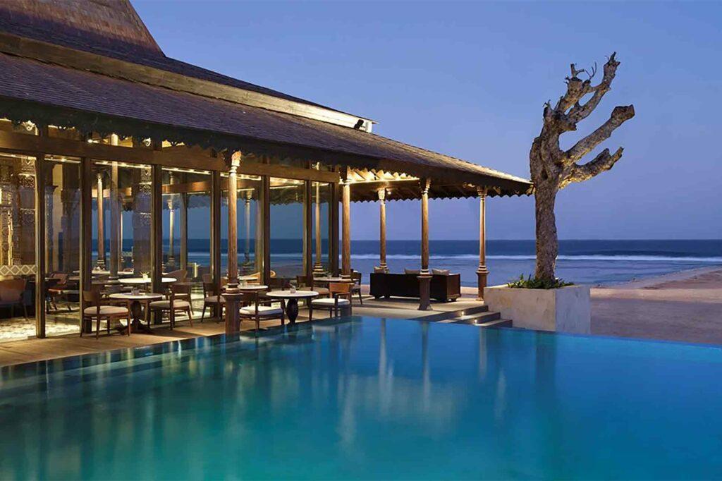 Pool with a view at The Apurva Kempinski Bali, Bali, Indonesia