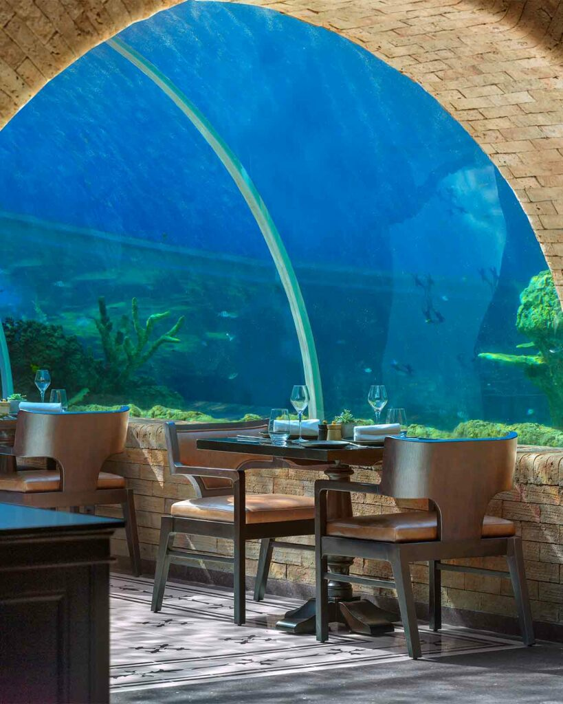 Underwater dining at The Apurva Kempinski Bali, Bali, Indonesia