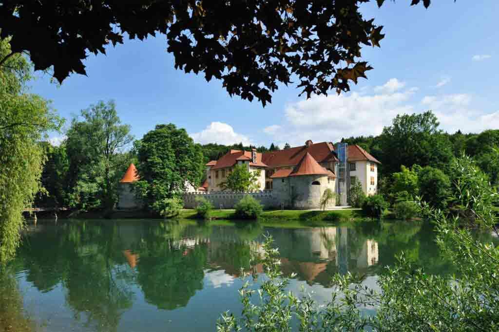 Exterior view of The Grad Otočec, Otočec, Slovenia