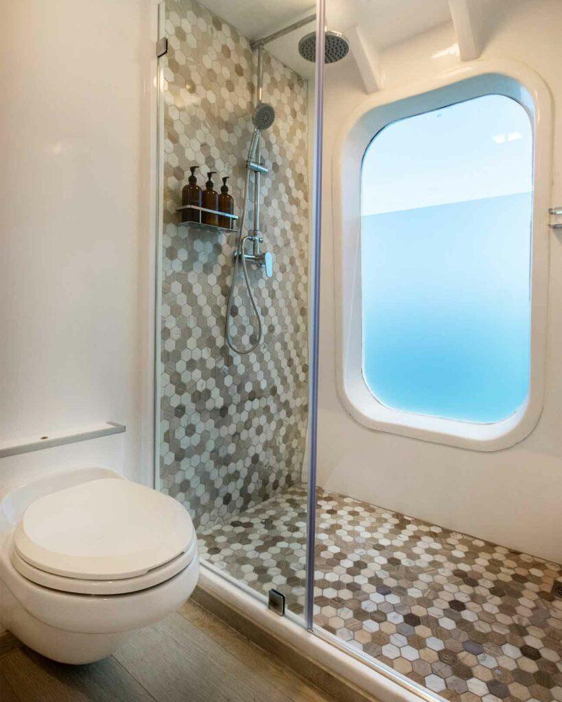 Bathroom aboard the Theory by Ecoventura, Galápagos Islands, Ecuador