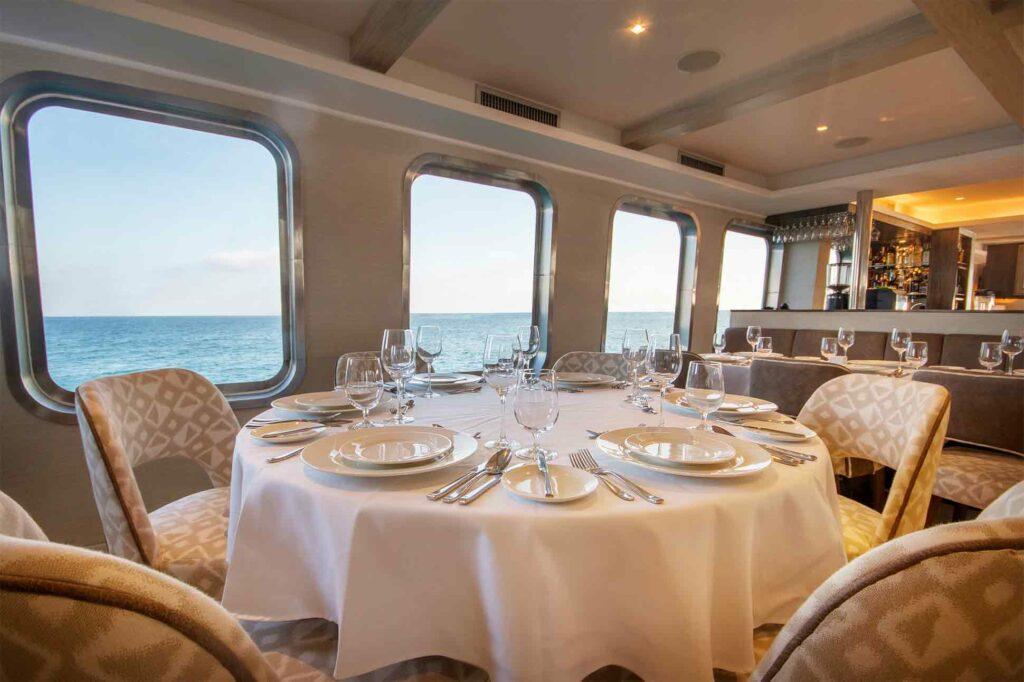 Dining aboard the Theory by Ecoventura, Galápagos Islands, Ecuador