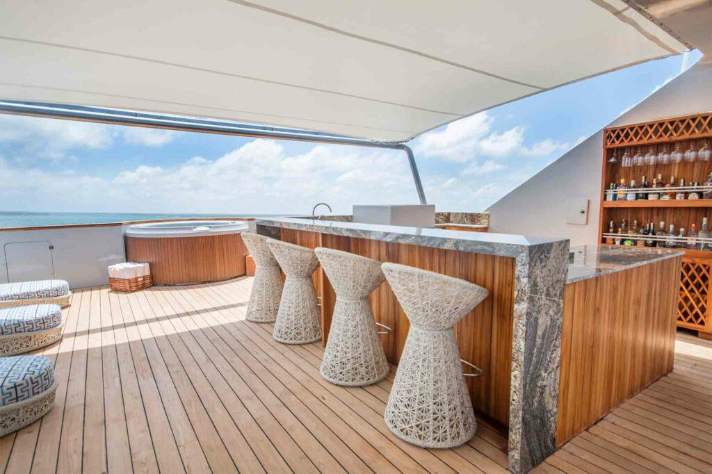 Upper deck on the Theory by Ecoventura, Galápagos Islands, Ecuador