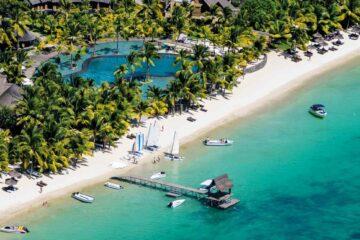Trou aux Biches, Mauritius bird's eye view