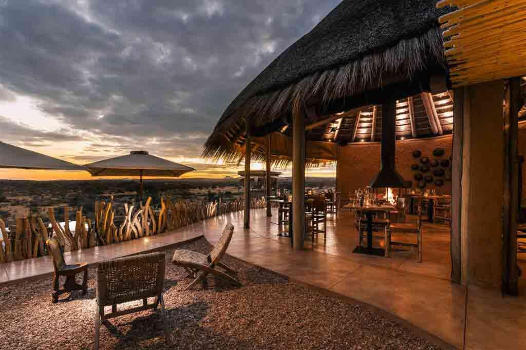 Restaurant with a view at Zannier Hotels Omaanda, Namibia