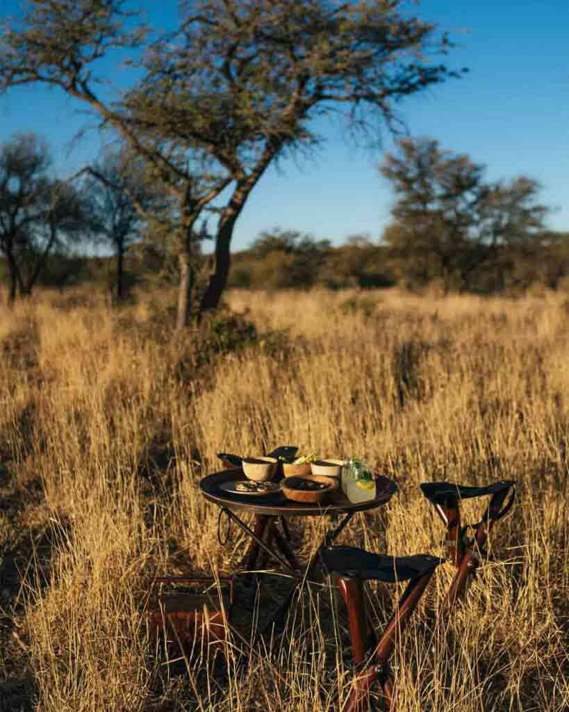 A meal in the bush, Zannier Reserve, Namibia