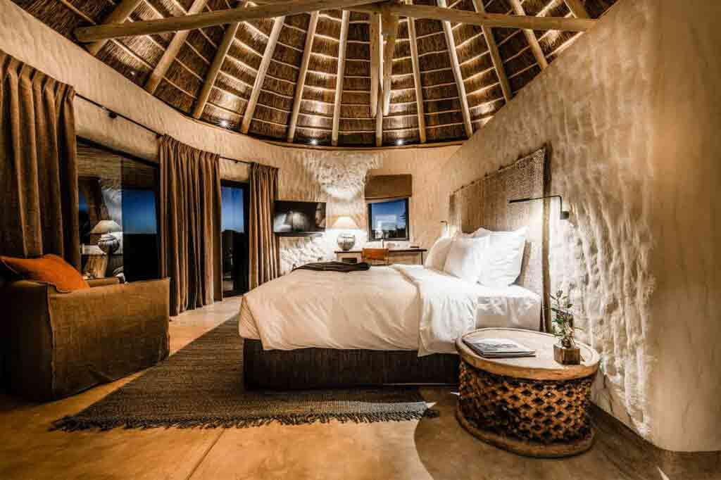 Luxury bedroom at Zannier Hotels Omaanda, Namibia