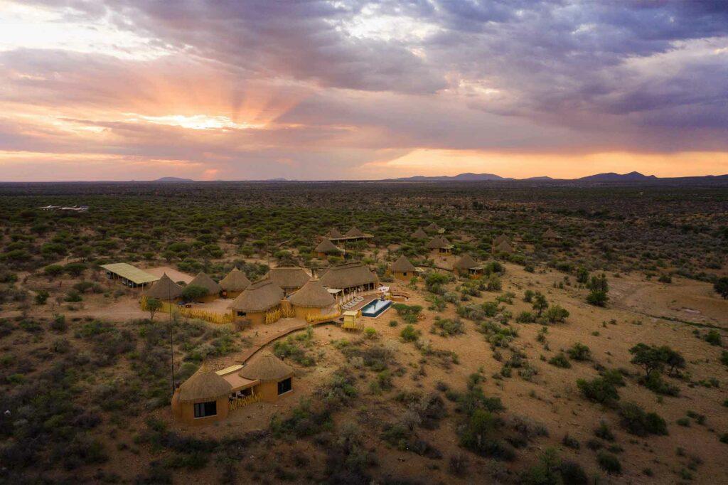 Aerial shot of Zannier Hotels Omaanda, Namibia