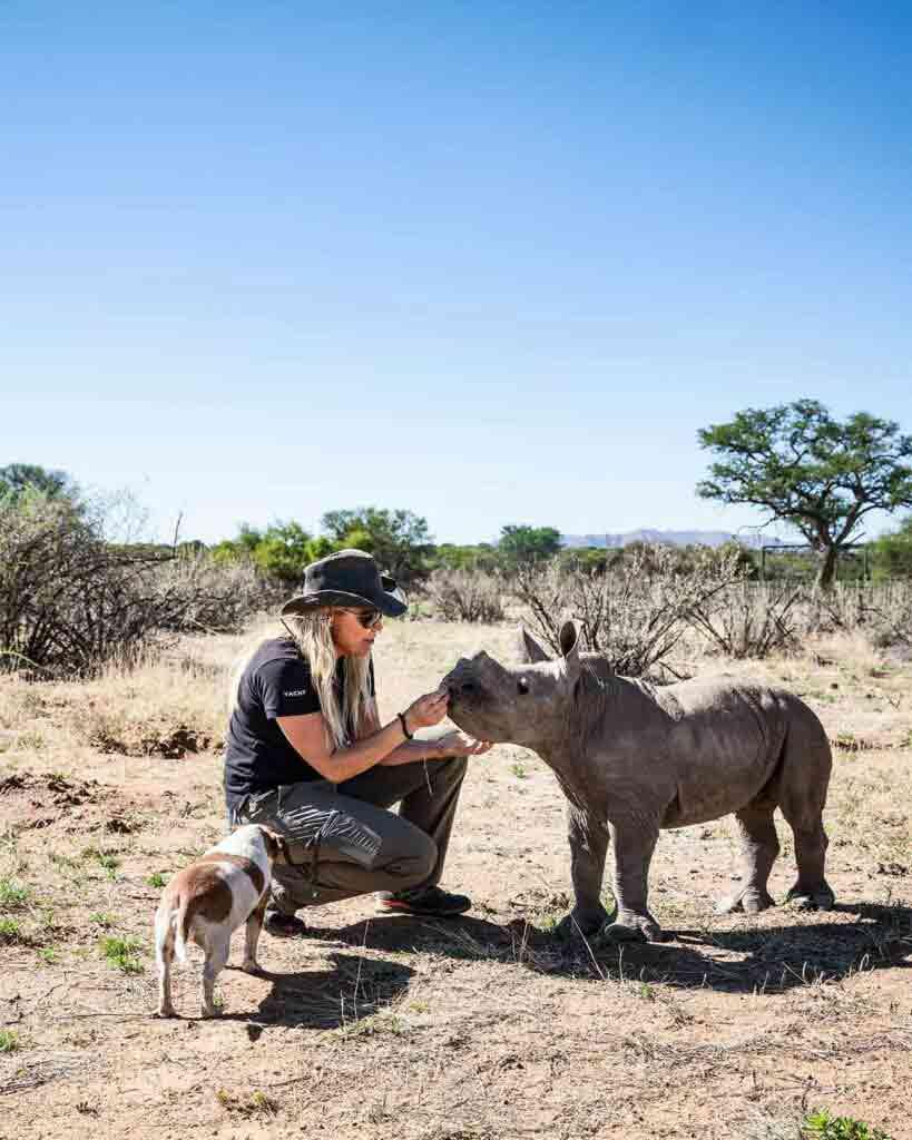 Baby white rhino 'Hope', Zannier Reserve, Namibia