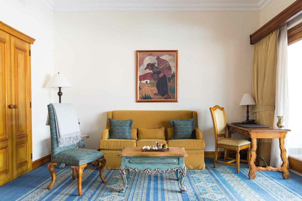 Belmond Palacio Nazarenas suite living room