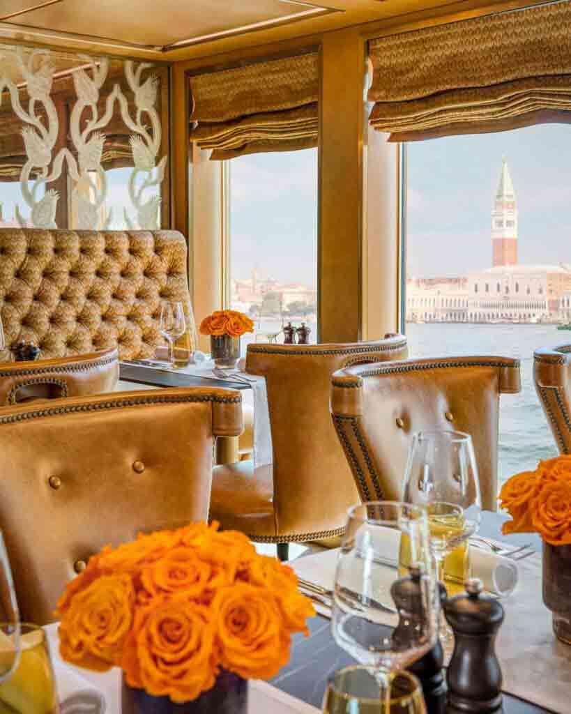 Restaurant aboard Uniworld Super Ships S.S. La Venezia
