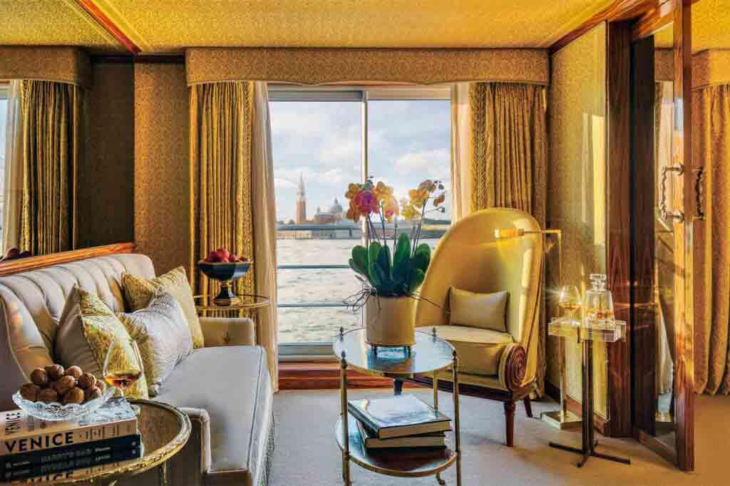 Suite aboard the Uniworld Super Ships S.S. La Venezia