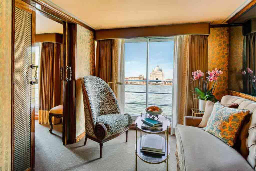 Detail of suite aboard the Uniworld Super Ships S.S. La Venezia