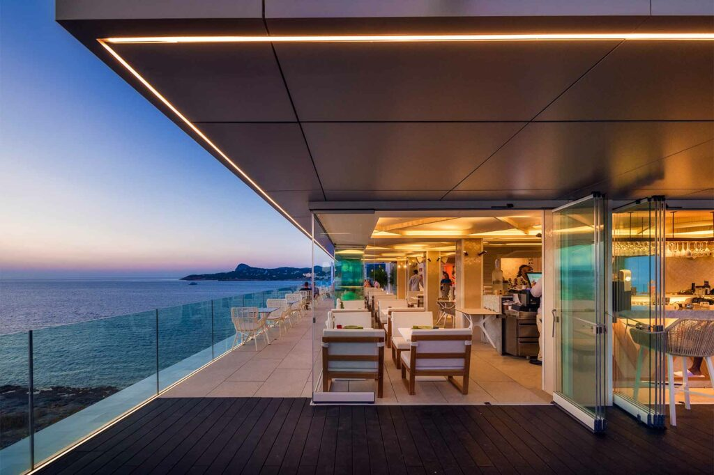 Belvue rooftop bar at Amàre Beach Hotel, Ibiza, Spain