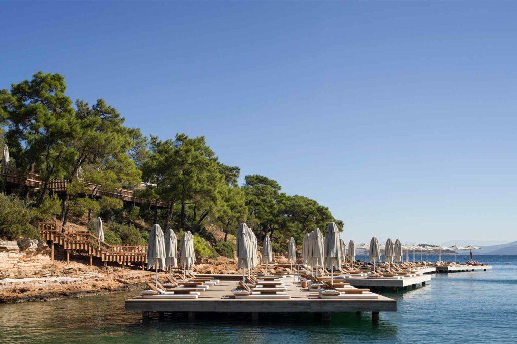Seaside loungers in Turkey