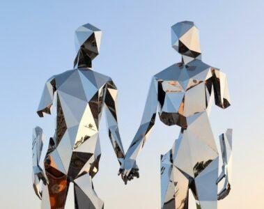 Couple artwork at Burning Man, Black Rock City, Nevada, USA