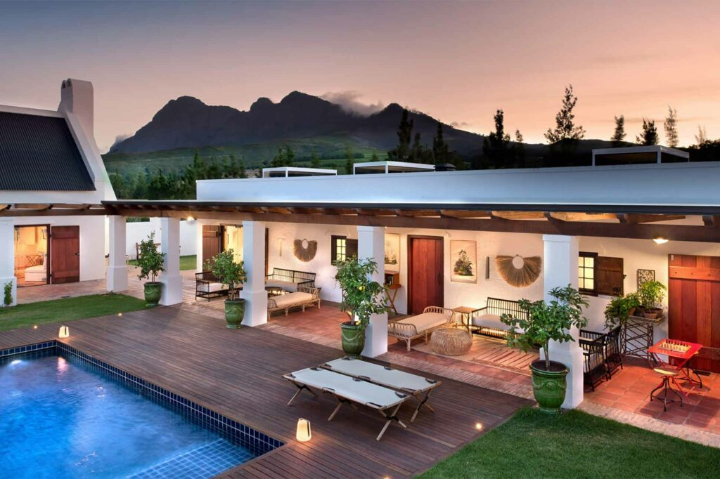 Inner courtyard of Fynbos Family House, Babylonstoren, South Africa